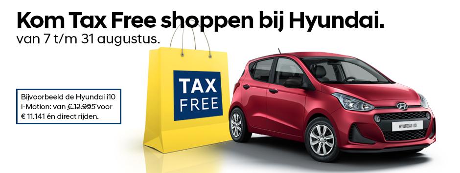 tax free zonder btw actie hyundai i10
