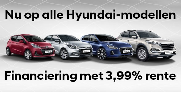 3,99% rente Hyundai actie