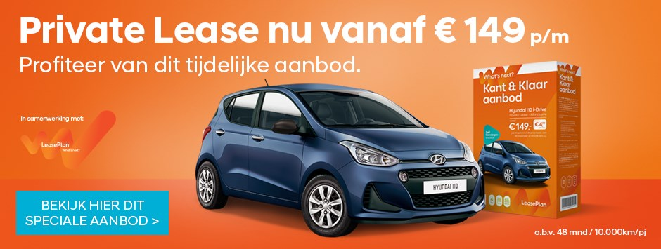 leaseplan, private lease, hyundai, actie