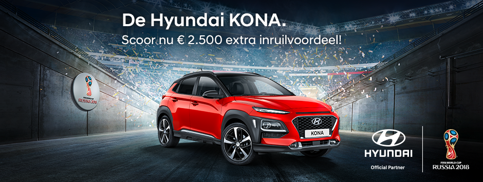 Hyundai Kona inruilvoordeel WK actie