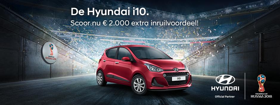 Hyundai i10 inruilvoordeel WK actie