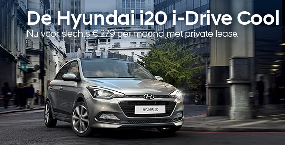 private lease, Hyundai, i20, actie