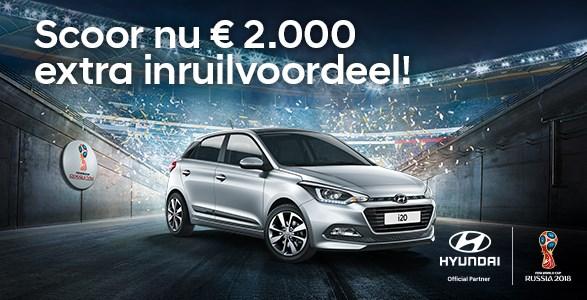 Hyundai i20 inruilvoordeel WK actie