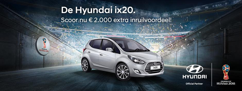 Hyundai ix20 inruilvoordeel WK actie