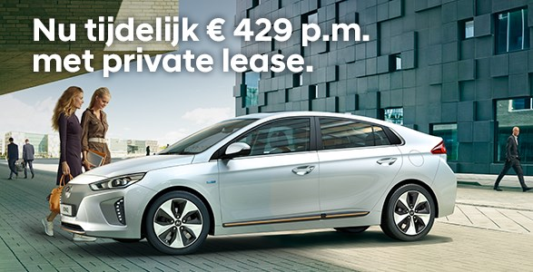 Hyundai IONIQ Electric met Private Lease