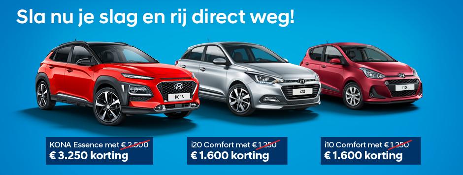 Extra voordeel op al onze Hyundai voorraadmodellen bij Garage Van Dalen