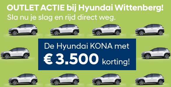 Outlet actie Hyundai Wiitenberg