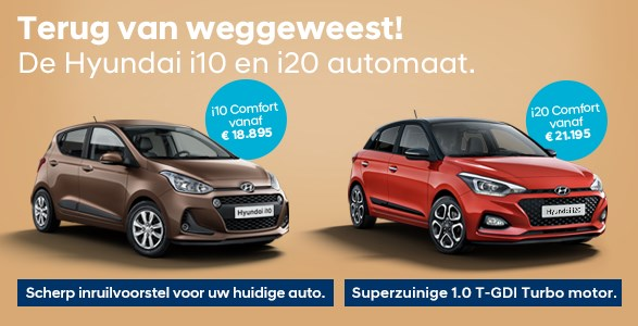 Hyundai i10 & Hyundai i20 automaat