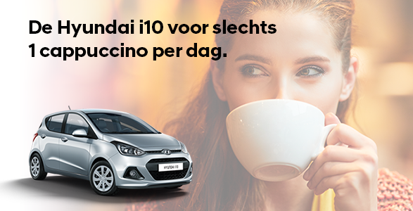 Hyundai i10, cappuccino, actie, rente