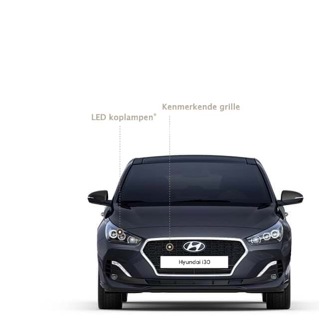 Vooraanzicht Hyundai i30 Fastback