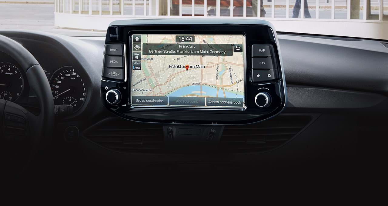 Navigatie en touch screen