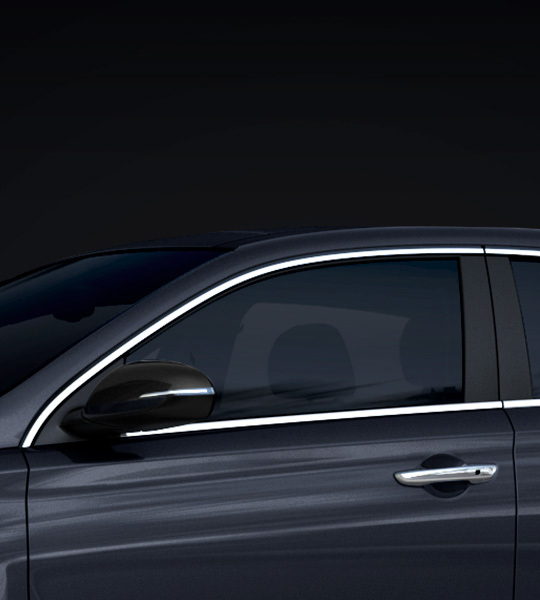 Zijaanzicht van Hyundai i30 Fastback