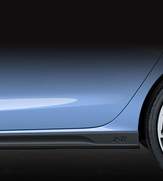 Zijaanzicht van Hyundai i30 N