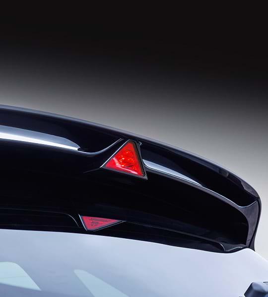 Dakspoiler van de Hyundai i30N