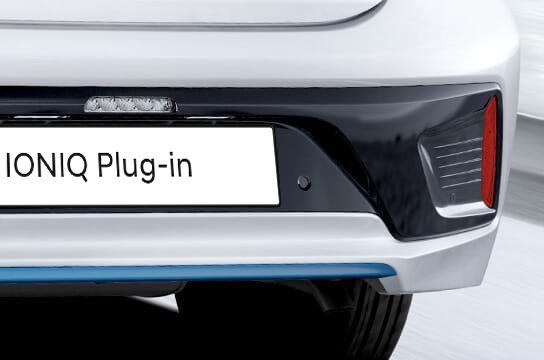Detail achterkant van Hyundai Ioniq Plug-In Hybrid