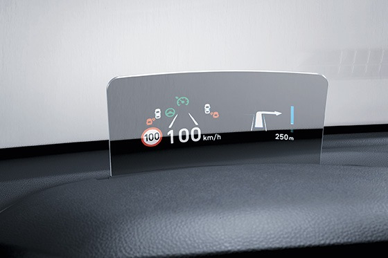 Hyundai KONA - Head-up display (HUD)