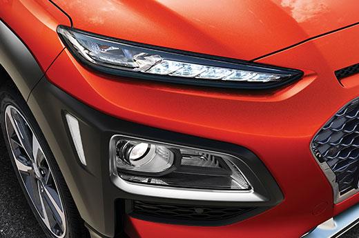 Hyundai KONA zijvoor detail