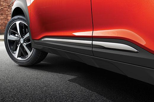 Hyundai KONA stroomlijn, aerodynamica