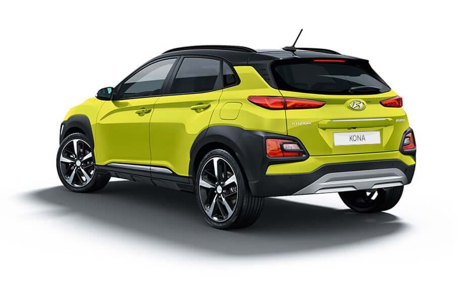 Hyundai KONA achter aanzicht