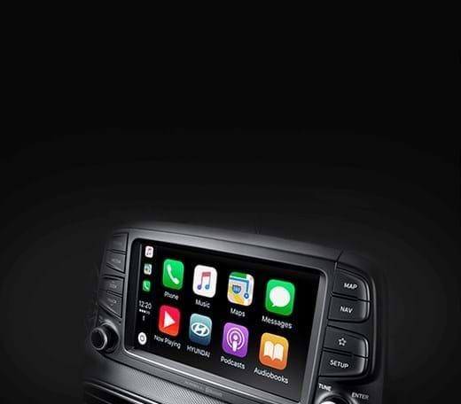 Touchscreen interface - Hyundai Kona
