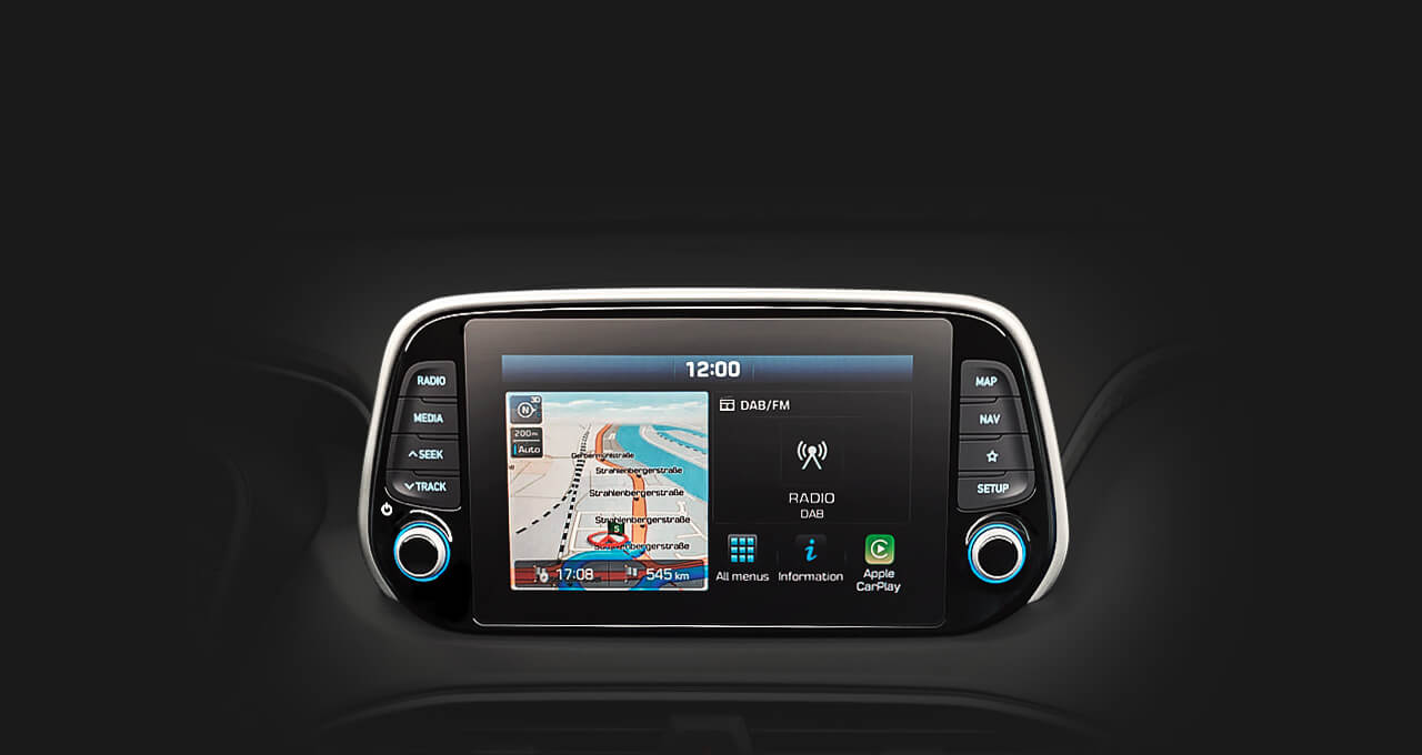 8-inch touchscreen navigation
